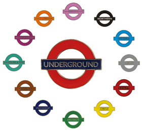 London Underground Lines Pin Badges